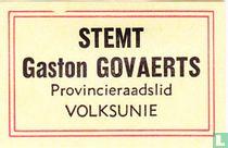Stemt Gaston Govaerts