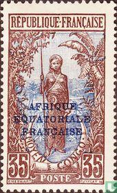 Bakalois Frau, mit Aufdruck