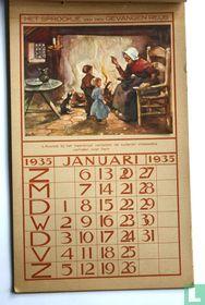 Kalender 1935 provinciaal electriciteits bedrijf