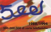 500 Milioni di Carte Telefoniche