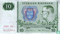 Schweden 10 Kronor 1983 (P52e3)