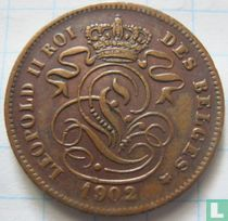 België 2 centimes 1902 (FRA)