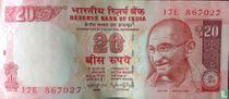 India 20 Rupees 2014