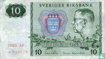 Schweden 10 Kronor 1980