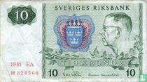 Schweden 10 Kronor 1981