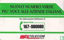 Nuovo numero verde. Più voce - Logo Telecom