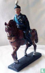 Mussolini te paard