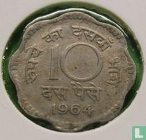 India 10 paise 1964 (Calcutta)