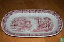 Serveerschaal 32 x 21,5 cm - Old England - Cambridge