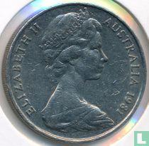 Australië 20 cents 1981 (Canberra)