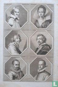Portretten van: Orazio Lomi Gentileschi (1563-1639); Artemisia Gentileschi (1593 - ca. 1656); Henricus Steenwyck (1580-1649); Simon Vouet (1590-1649); Roelant Savery (1576-1639); Joris Hoefnagel (1542 - ca. 1600).