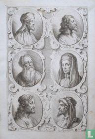 Afbeeldingen van: Cimabue (1240-1302); Gaddo Gaddi (ca. 1239 - ca. 1312); Stefano di Giovanni (ca. 1392 - ca. 1450); Giotto di Bondone (ca. 1266 - 1337); Simone Sanese (? - ?); Agnolo Gaddi (ca. 1350 - 1396).