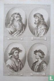Portretten van: Hans Holbein de Oude (ca. 1460 - 1524); Sigmund Holbein (ca. 1470 - 1540); Niklaus Manuel (ca. 1484 - 1530).