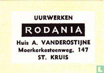 Uurwerken Rodania Huis A. Vanderostijne