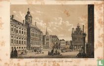 stadhuis en markt Amsterdam cityhall market 18e century