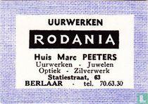 Uurwerken Rodania Huis Marc Peeters