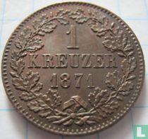 Baden 1 kreuzer 1871