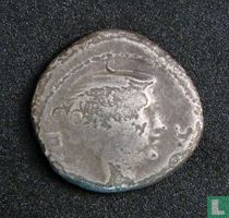 Romeinse Rijk, AR Quinarius, 42 BC, Fulvia wife of Marcus Antonius, Lugdunum