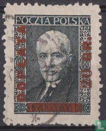 Ignacy Moscicki, mit Aufdruck