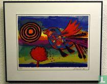 Corneille - Vogel met zon en boom
