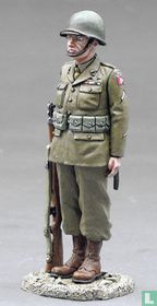 82nd Airborne Trooper at Attention