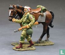 Paratrooper with Walking Horse