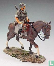 Mounted Rifleman with Helmet Turning Left