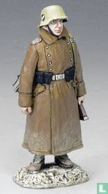Soldier with Grey Coat Standing