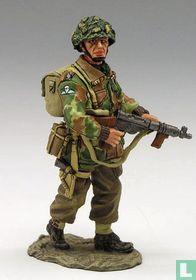 Lieutenant with Sten Gun