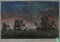 Vue de L'Attaque pres du Chateau de Lemnos, qui Capitula le 4 8bre 1770