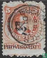 Bernardino Rivadavia, met opdruk Provisorio