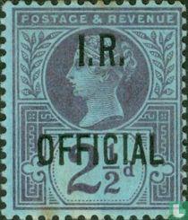 Koningin Victoria, met opdruk I.R.