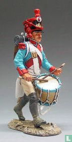 French Grenadier Drummer Marching