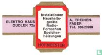 Instalationen Haushaltsgerate Radio-Fernsehen Speicherheizungen - Electro Haus Oudler 72a - A. Treinen-Faber Tel. 080/29260