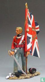 British Officer with Flag