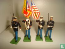 US Marine Colour Party