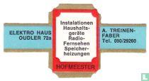 Instalationen Haushaltsgeräte Radio-Fernsehen Speicherheizungen - Electro Haus Oudler 72a - A. Treinen-Faber Tel. 080/29260
