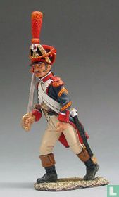 French Grenadier Officer Marching