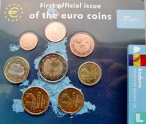 """Andorra mint set 2014 """"First official issue of the euro coins"""""""