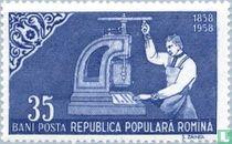 Handdrukpers voor postzegels