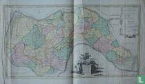 Kaart van het eiland Zuidbeveland,