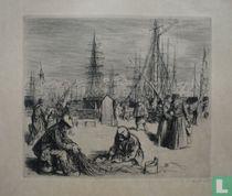 Mensen in de haven