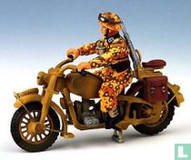 Dispatch Rider on Motorcycle