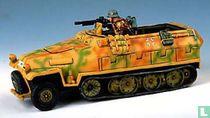 Hanomag Halftrack with crouching machine gunner