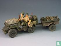 US Jeep and Trailer with 2 x 82nd Airb