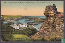 Boulogne-sur-Mer, La Tour de Caligula - Vue sur le Casino et les Bassins