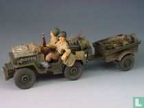us jeep and trailer & 1st inf soldiers
