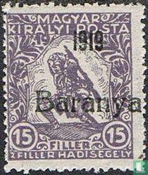 postzegel met opdruk