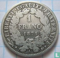France 1 franc 1871 (small A)