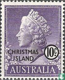 Koningin Elizabeth II met opdruk